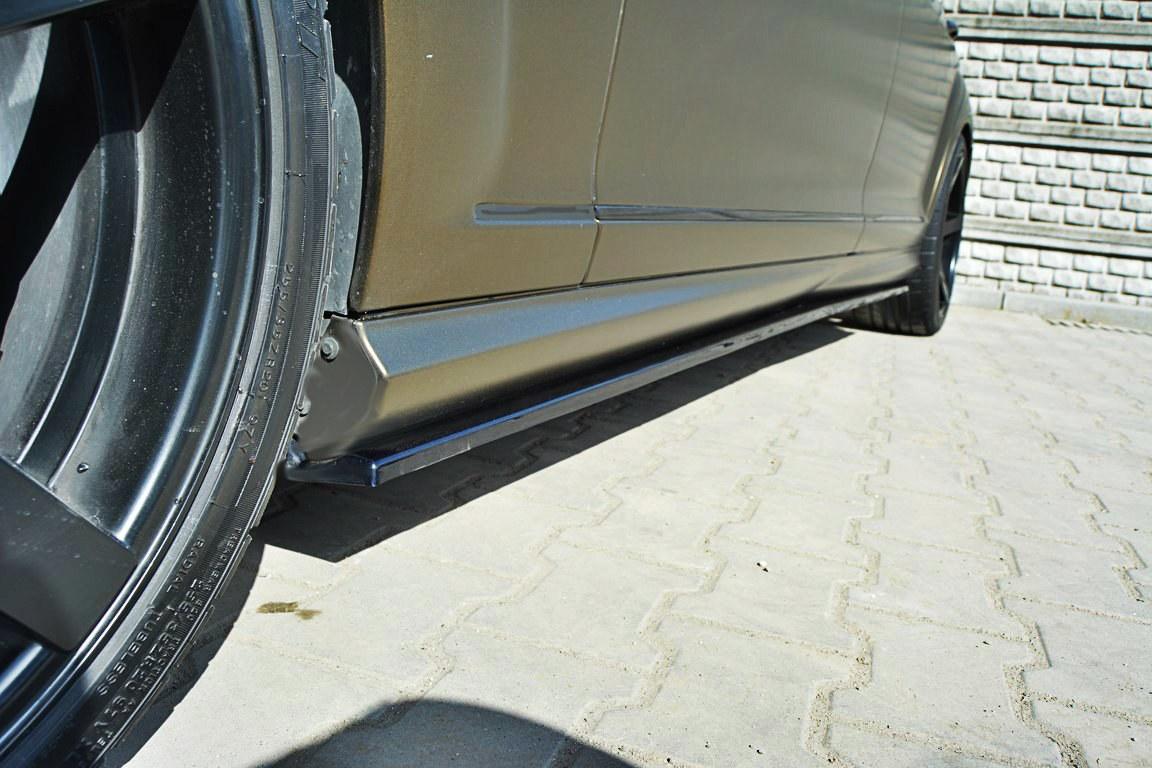 Dokładki Progów Mercedes S-Class W221 AMG LWB - GRUBYGARAGE - Sklep Tuningowy